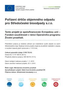 Pořízení drtiče objemného odpadu pro Středočeské bioodpady s.r.o.-1